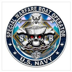 USN Special Warfare Boat Oper Wall Art Canvas Art